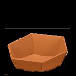 Präsentkorb 6-eckig Modern Cotto - mittel -