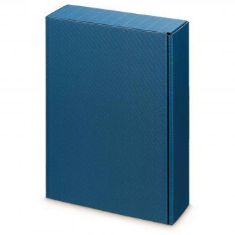 """3er Präsentkarton Blau Wein/Sekt """"Modern Blau"""""""