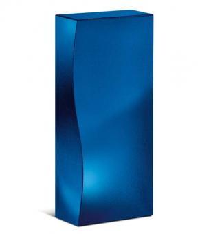"2er Präsentkarton/Faltschachtel ""Skulptur Blau Metallic"""