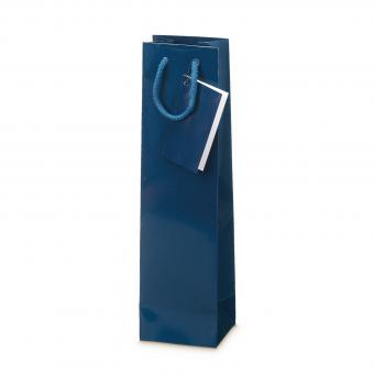 """1er Präsent-Tragetasche Glanzlack """"Blau"""""""