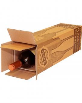 PTZ-Versandverpackung für 1 Flasche  Wein+Sekt