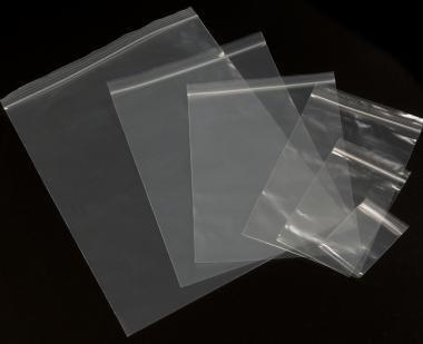 60 x 80 mm - wiederverschließbarer Druckverschlussbeutel  50 µ