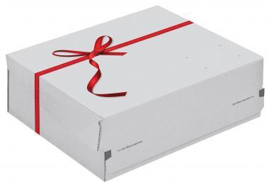 363 x 278 x 125 mm, Geschenkbox  Medium Weiß CP 068.96/02
