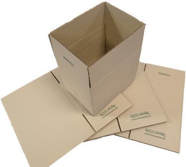 385 × 285 × 300 mm, Wellpappe-Faltkarton aus Graspapier