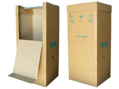 Kleiderbox für Umzug inkl. Deckel, 595 x 510 x 1345 mm -