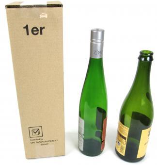 1er Versandkarton für 1 Flasche Wein o .Sekt