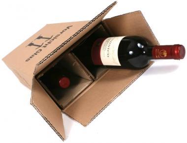 2er PTZ-System aus Wellpappe Flaschenverpackung