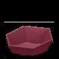 Präsentkorb 6-eckig Modern Bordeaux -mittel-