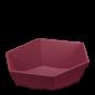 Präsentkorb 6-eckig Modern Bordeaux -groß-